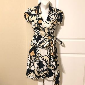 Diane von Fursrenberg print wrap dress